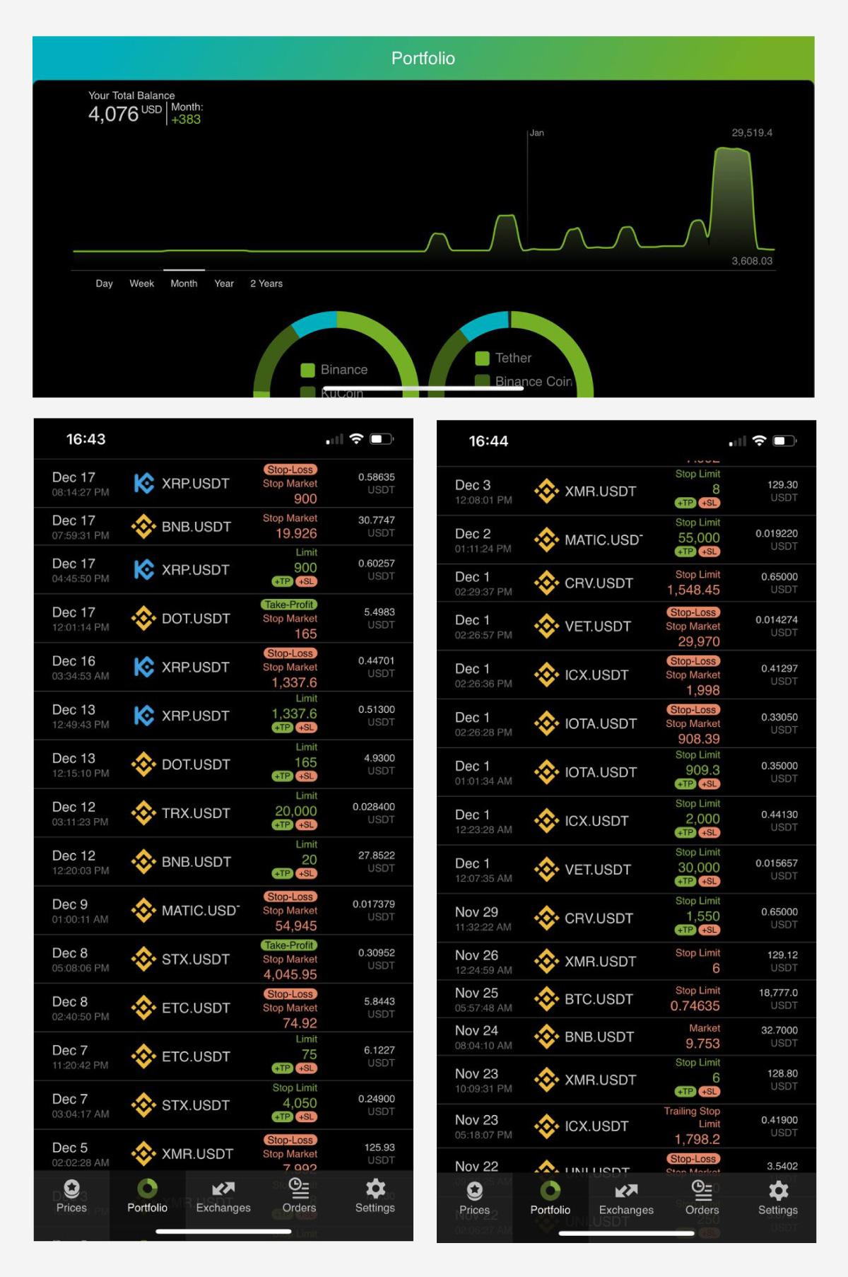 A crypto portfolio tracker app that integrates crypto exchanges