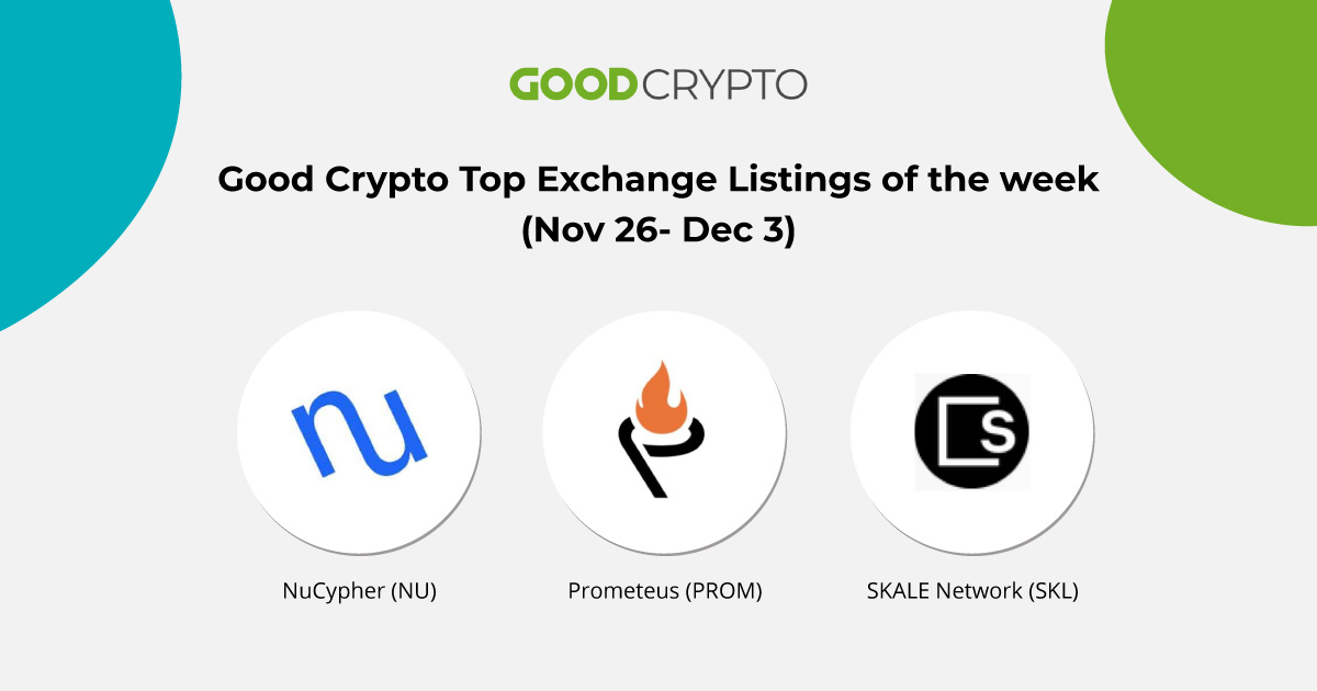 Top Exchange Listings of the week
