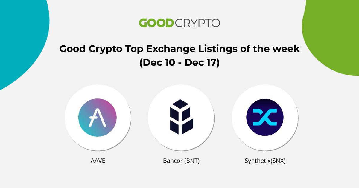 Last week's top listings on exchanges