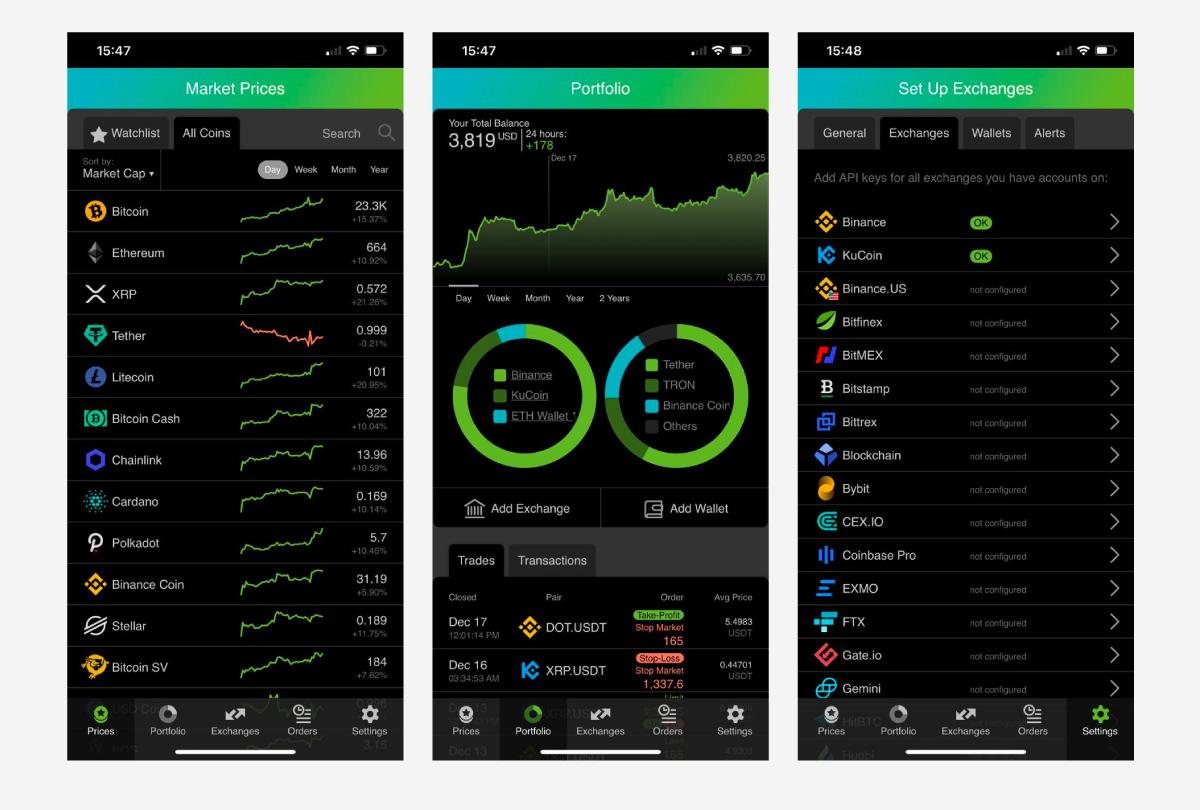Good Crypto's UI