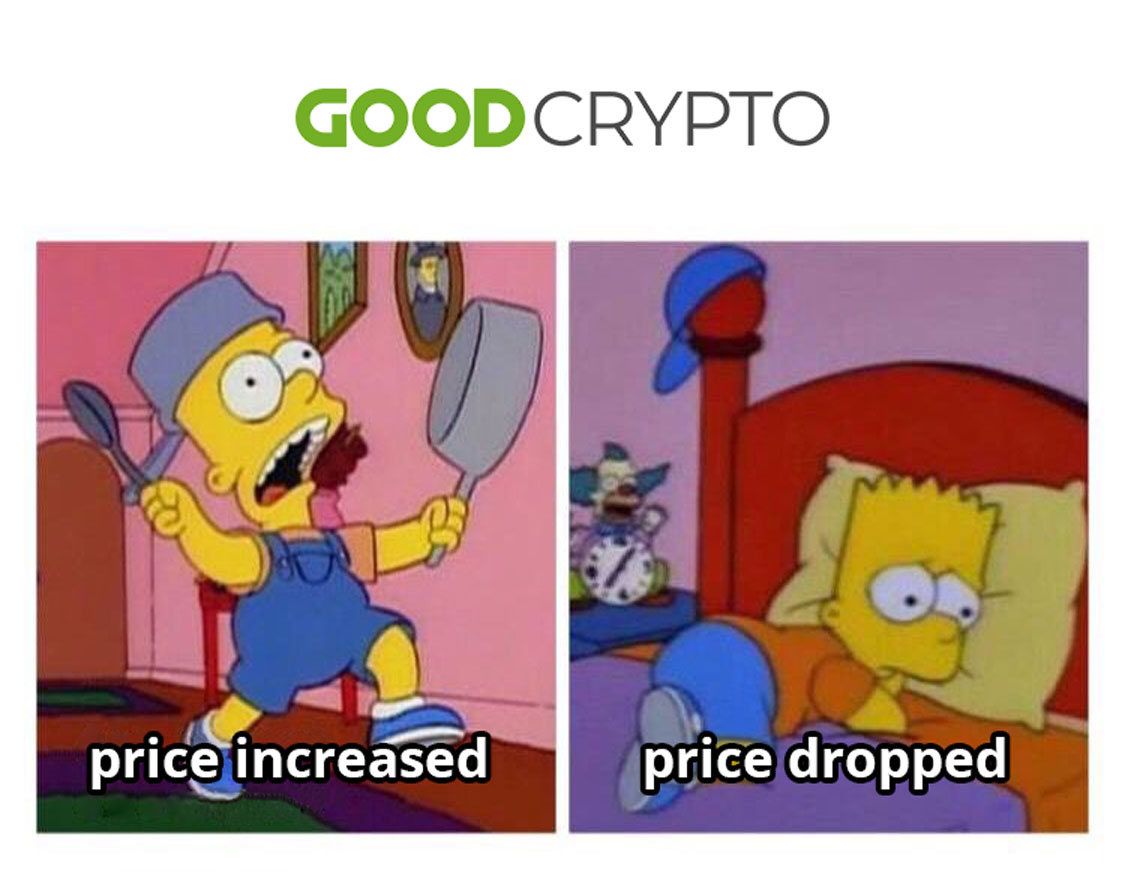 Traders have only two emotions during the day 😃😫