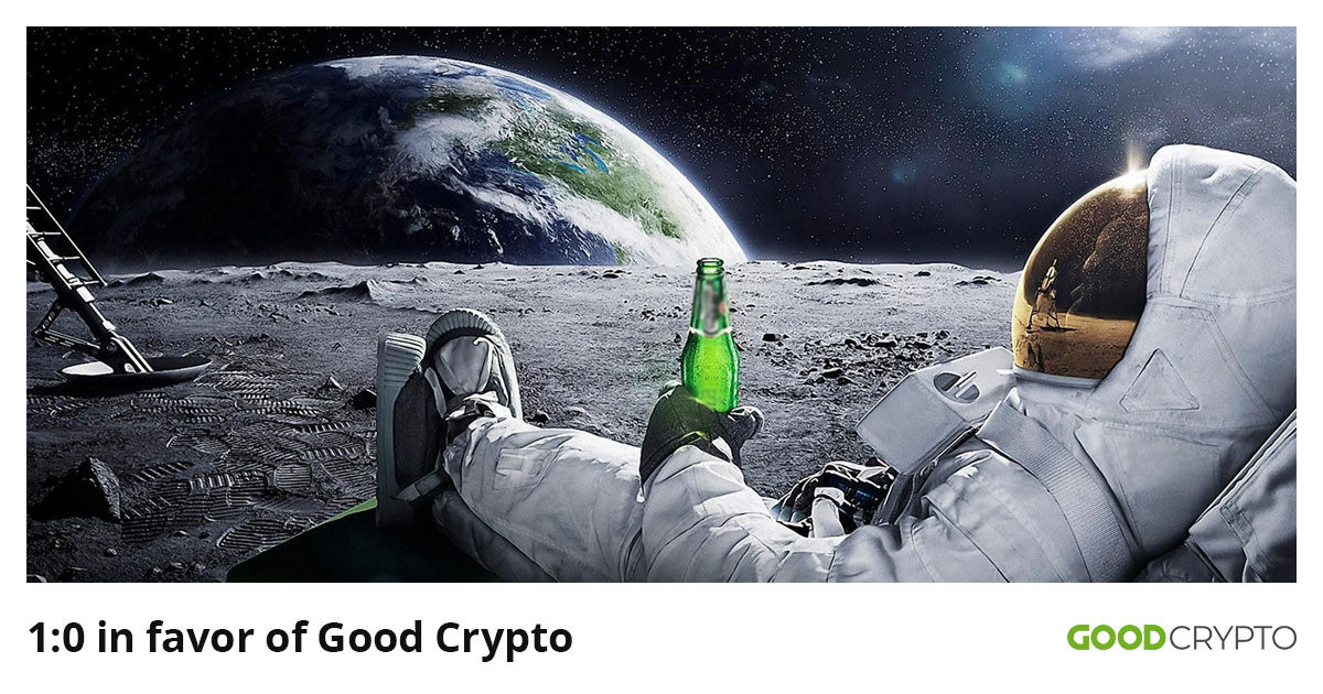 Good Crypto takes the lead over all the other applications on the crypto market, leaving Cryptowatch behind.