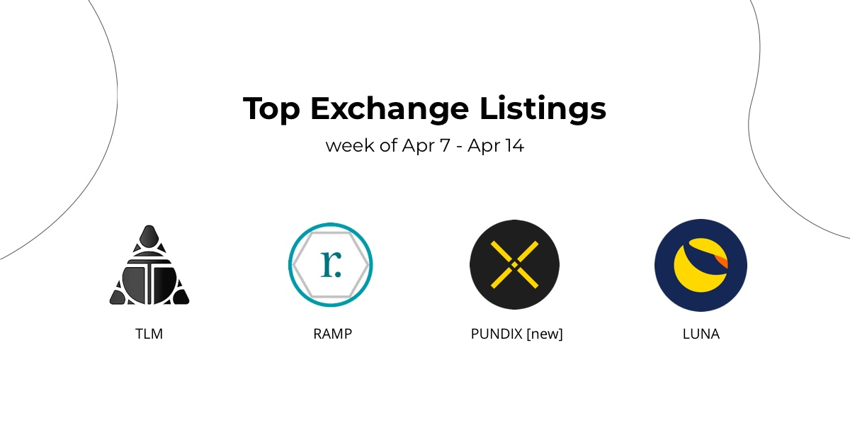 Yop Exchange Listings Apr 7 - Apr 14