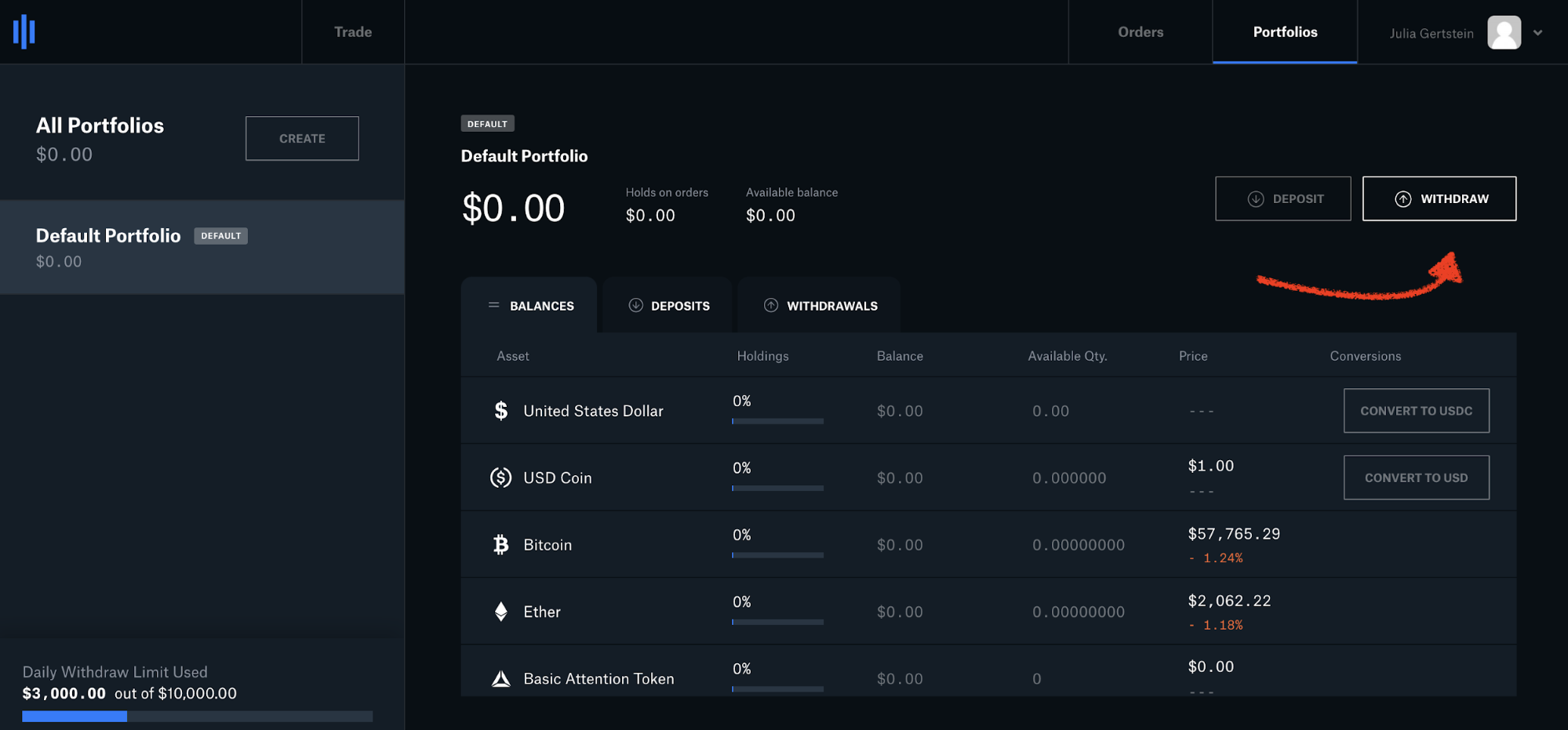 How to transfer from Coinbase Pro to Kraken