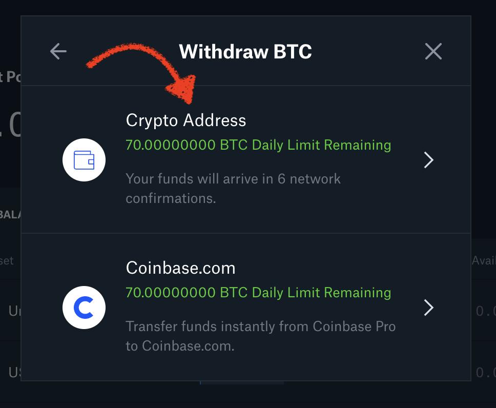 Как отправить деньги с Coinbase Pro на Кракен?