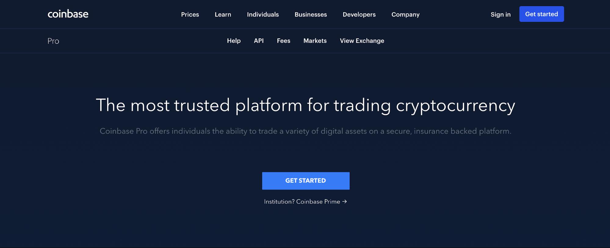 Биржа Coinbase Pro в деталях