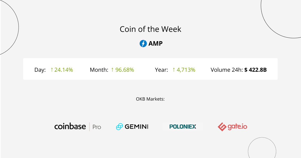 """Amp (AMP) is an Ethereum token that aims to """"collateralize payments on the Flexa Network, making them instant and secure."""""""
